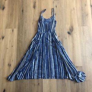 Cabi blue maxi dress with pockets
